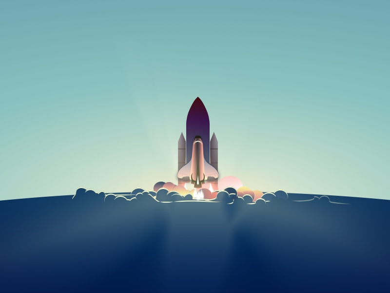 Rocket Launch Illustration Sketch Freebie Download Free