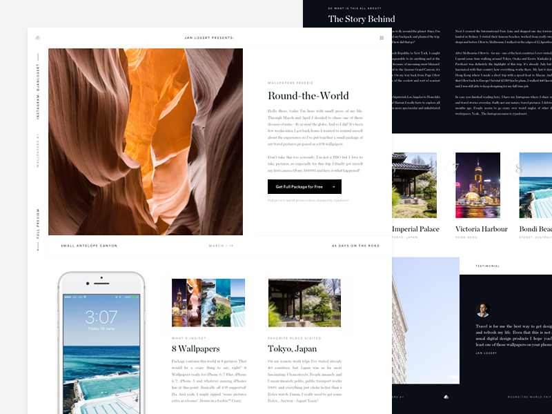 Round-the-World Trip Landing Page
