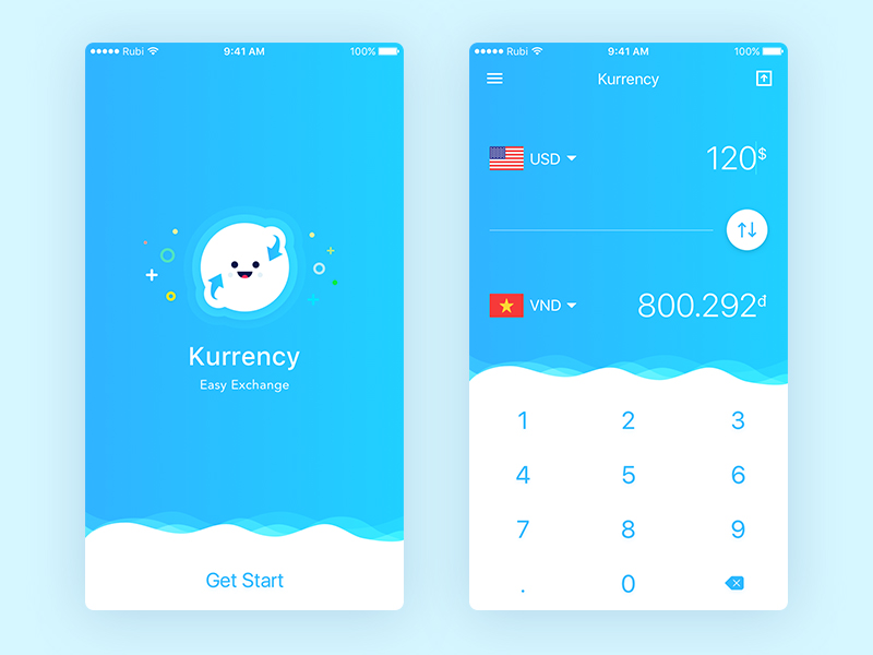 Currency Exchange Concept App Sketch freebie - Download free