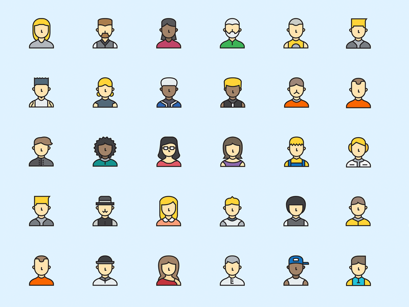 Sample Profile Avatars