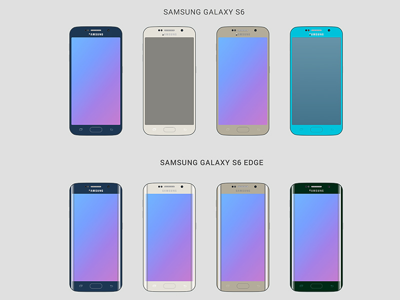 Free Samsung Galaxy and Note Device Mockups and GUI free