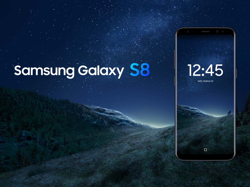 Samsung Galaxy S8 Mockup Sketch freebie - Download free resource for