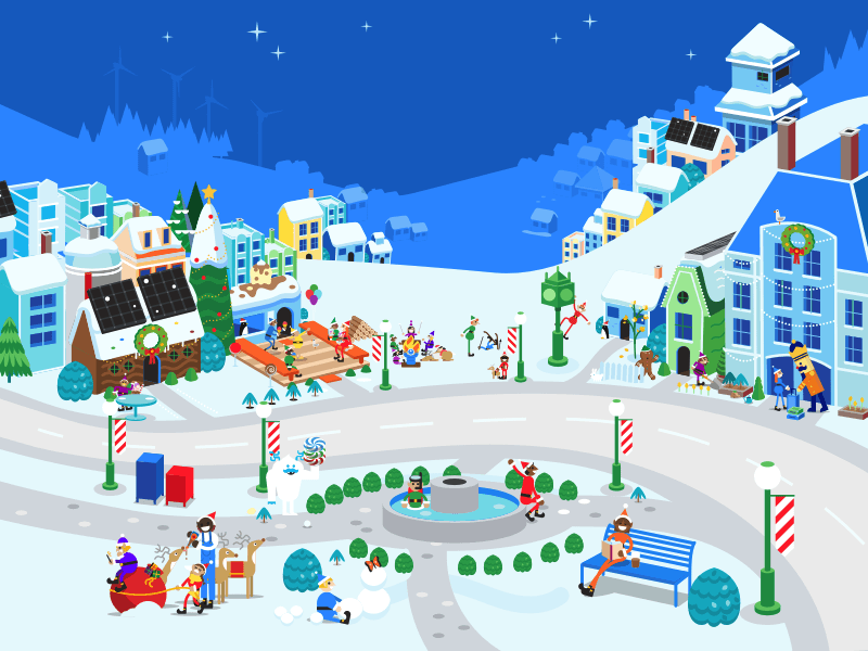 Google Santa Tracker Illustration