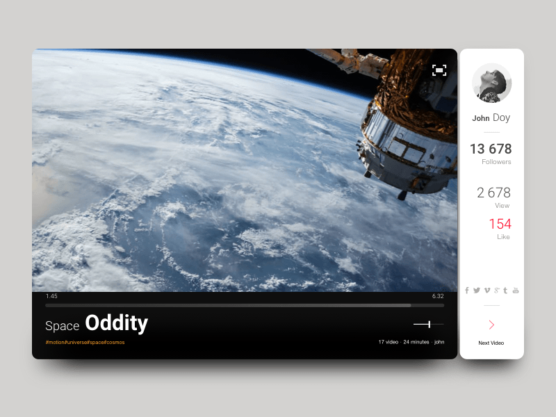 Custom Video Widget