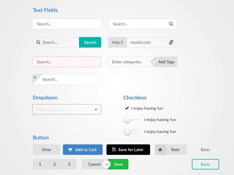 Semantic UI Kit Sketch freebie - Download free resource for Sketch