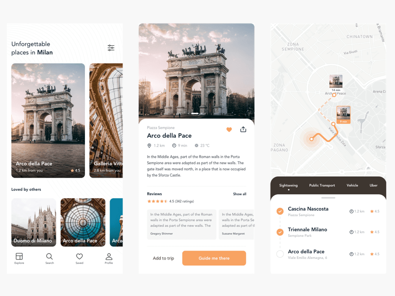 Sightseeing Concept App