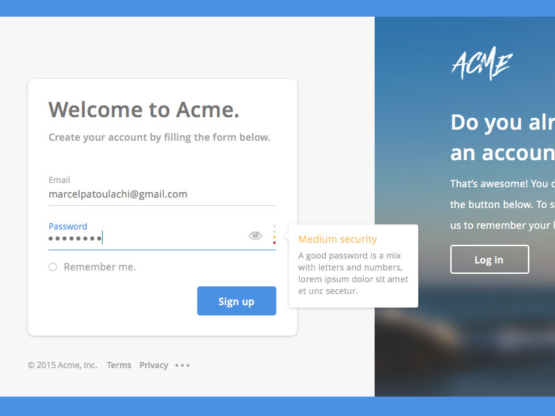 Create Account Form Template Sketch freebie Download free – Account Form Template