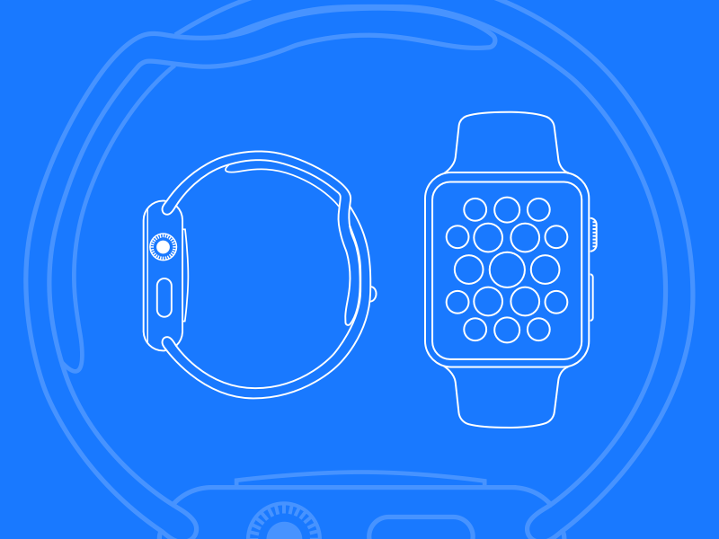 Apple Watch UI Kit Android Wear Moto 360 Template and Concepts free