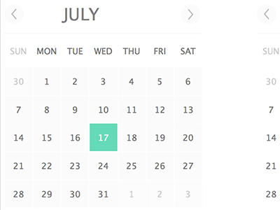 Simple Calendar Sketch freebie - Download free resource for Sketch