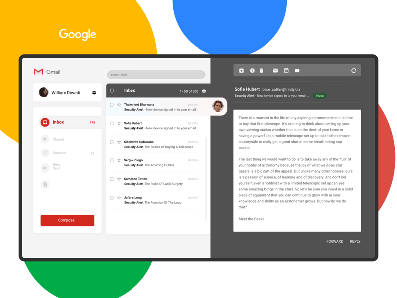 Simpler Gmail Concept