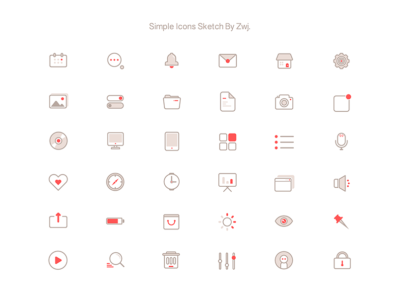 36 Simple Icons