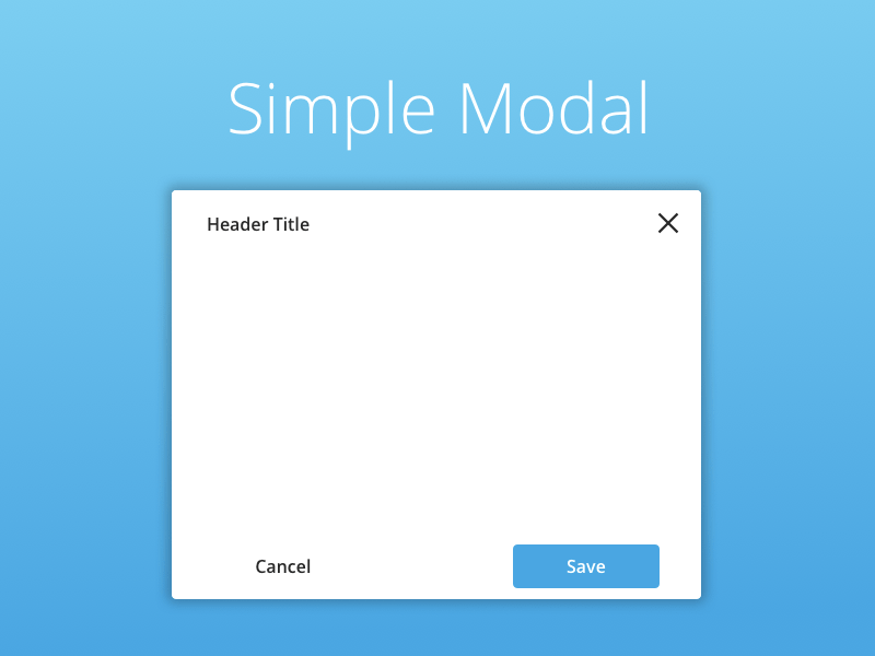 Simple Modal Library