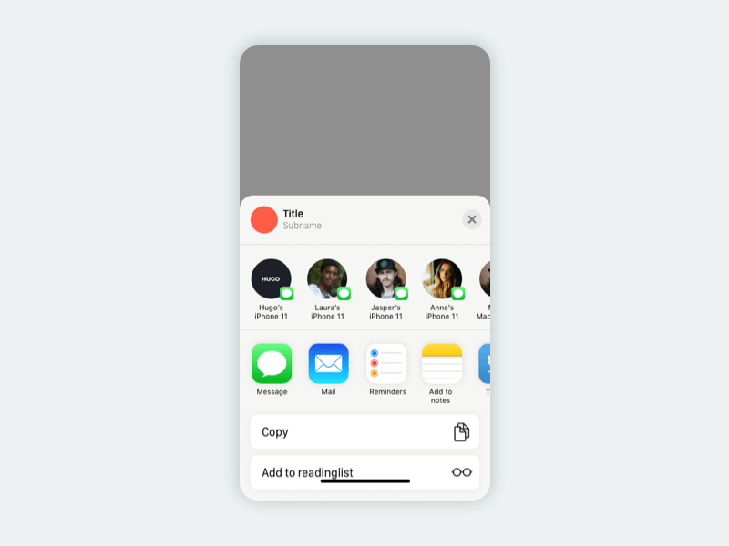 Simple Share Actionsheet iOS 13