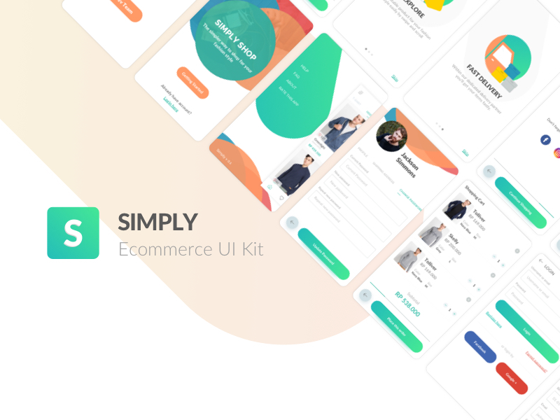 Simply Ecommerce UI Kit Sketch freebie - Download free resource for