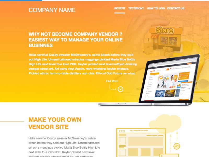 Single Landing Page Template Sketch Freebie Download Free Resource - Single page landing page template