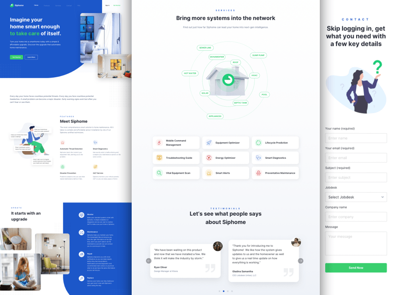 Smart Home Landing Pages