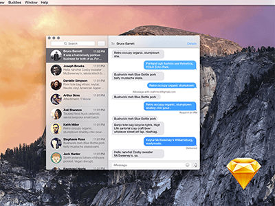 Apple OSX Yosemite Messages