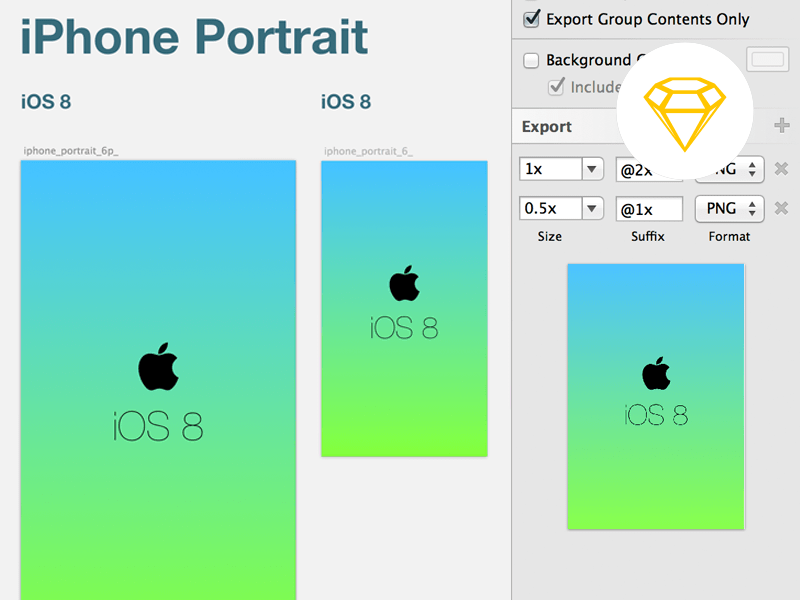 iOS 8 launch screen template