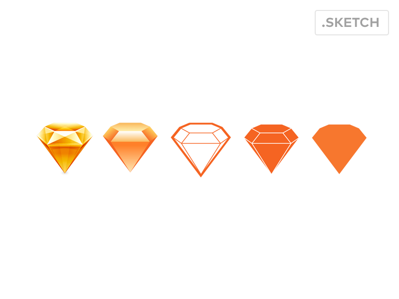 Sketch 3 Logo Variations Simplified Sketch Freebie
