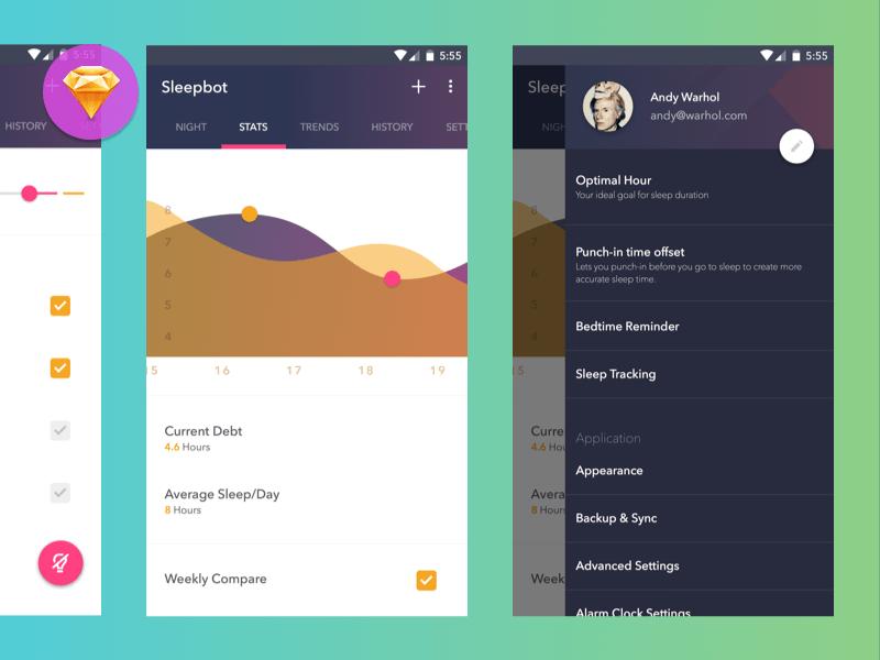 Sleepbot Android App Sketch freebie - Download free resource