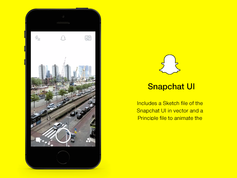 Snapchat UI and Principle Animation