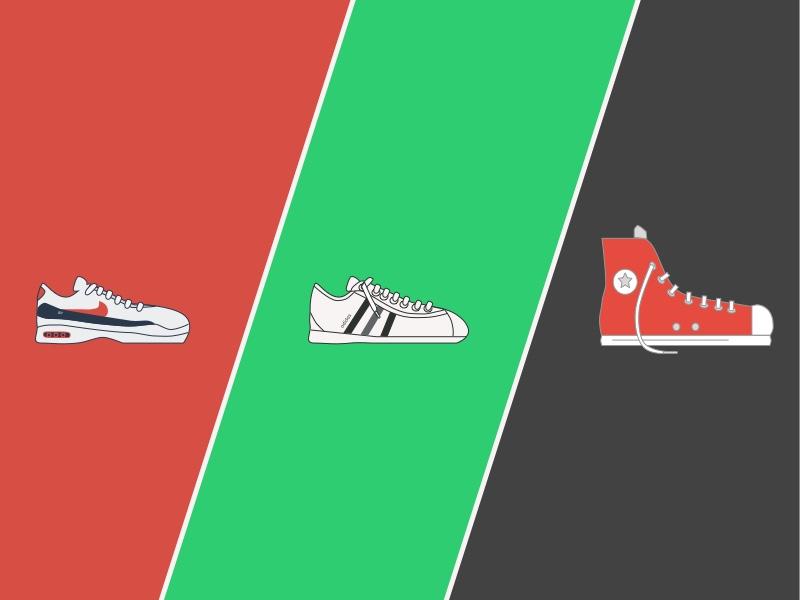 Sneakers Vector Template Sketch Freebie Download Free