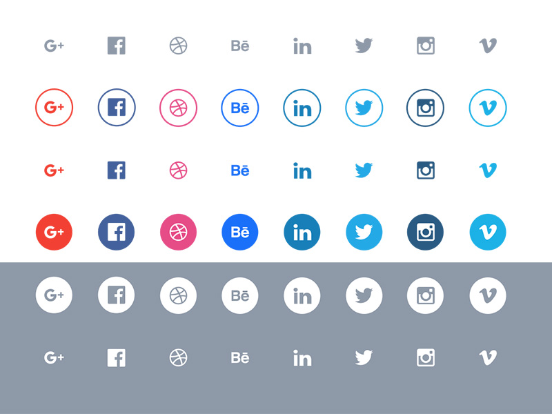 social media icons  banner template  buttons  badges  ad