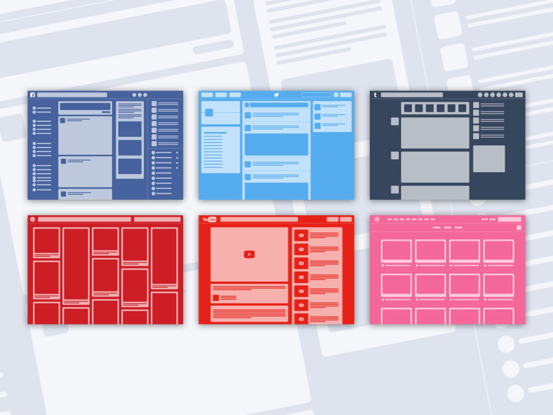 6 Web Layout Illustrations