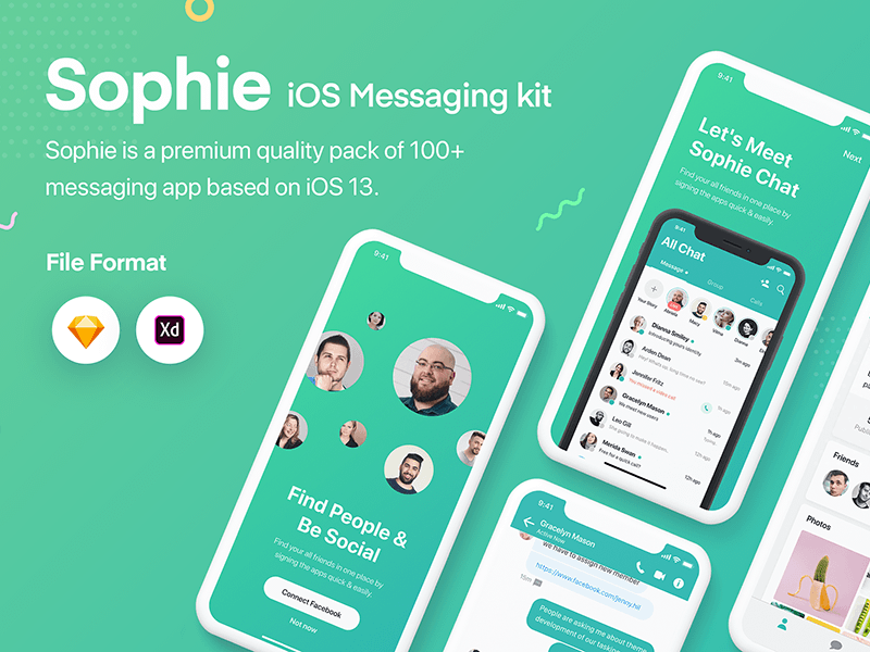 Sophie Messaging App UI Kit Demo