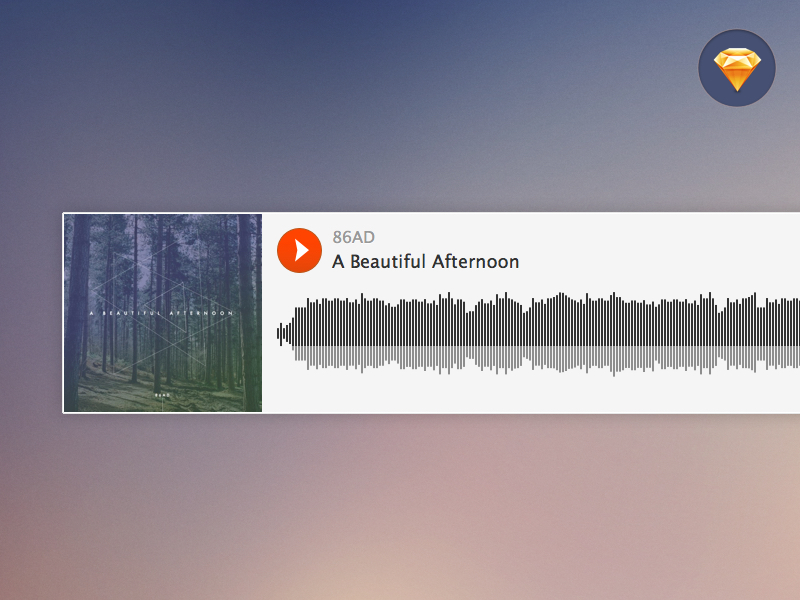 Soundcloud Embedded Player Sketch freebie - Download free