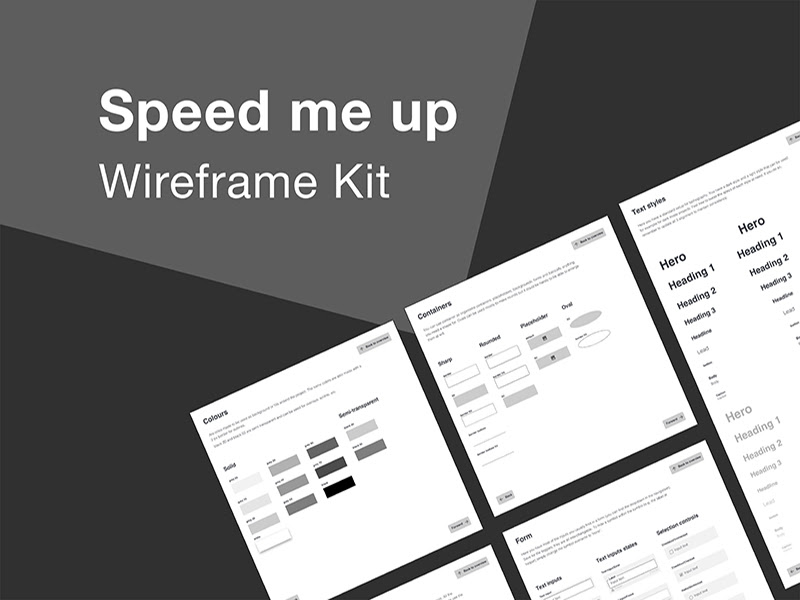 Speed Me Up Wireframe Kit