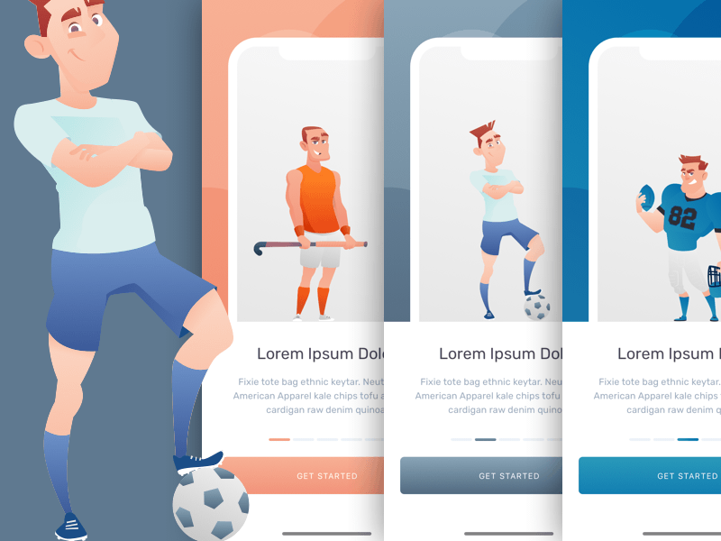 Sports App Onboarding Sketch freebie - Download free resource for