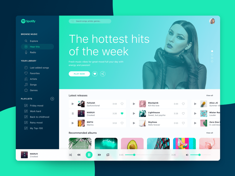 MacOS Spotify Redesign