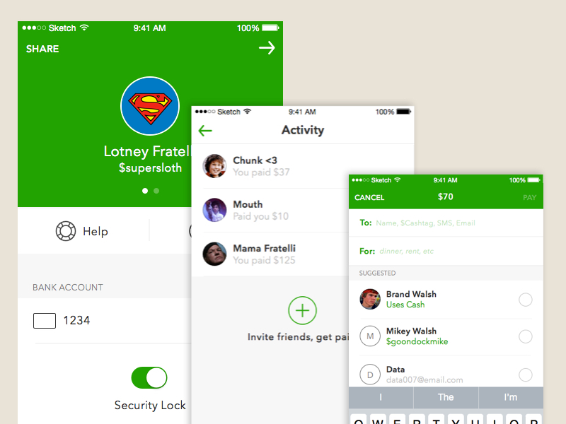 Square Cash App UI Kit