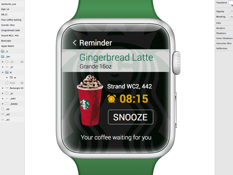 Watch - Starbucks Coffee Reminder