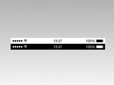 Make android look like ios7 (free + no root) status bar, control.