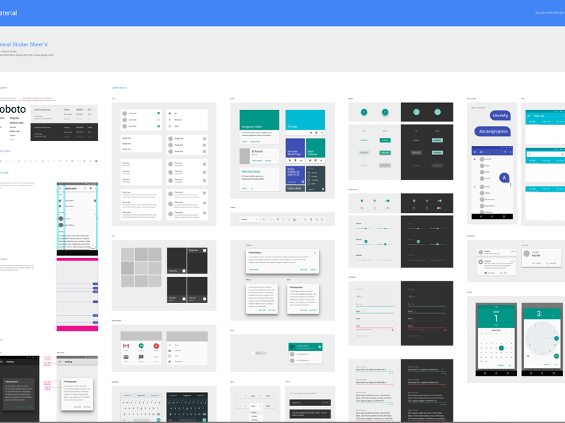 Material Design by Google Sketch freebie - Download free resource ...