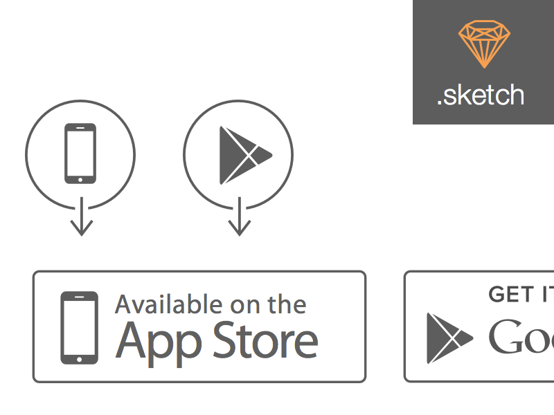 Apple App Store and Google Play Store Icons
