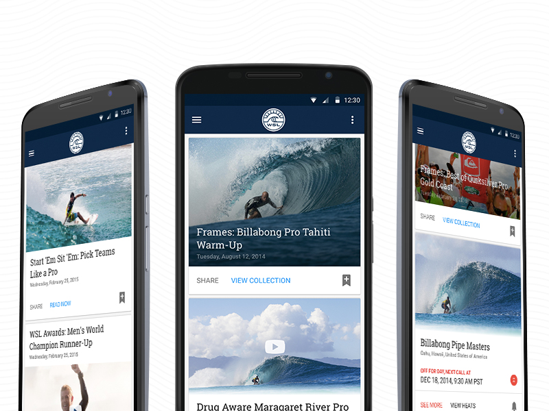world surf league android app sketch freebie download