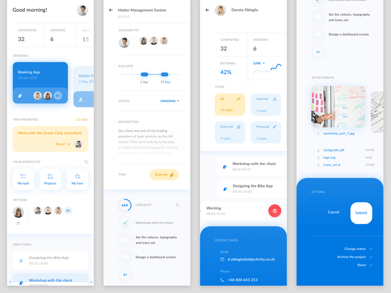 Team Management App Concept