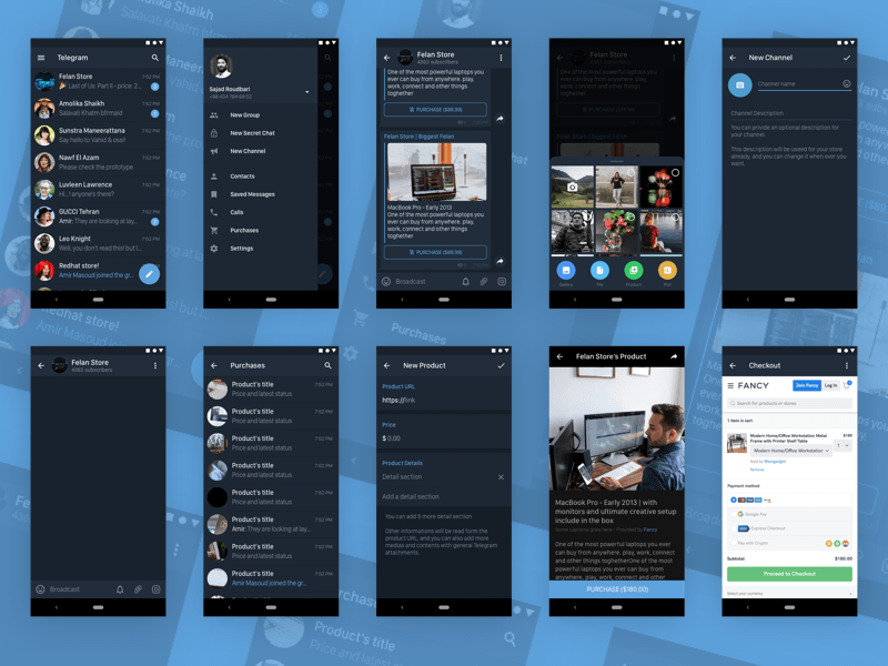 Telegram Messenger for Android in Dark Mode