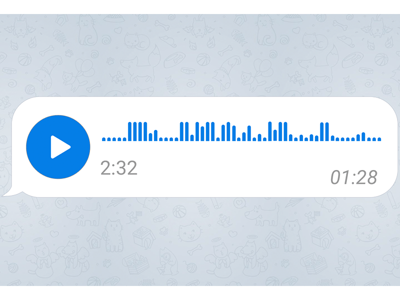 Telegram Voice Message Sketch Freebie Download Free Resource For