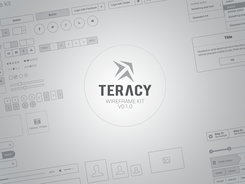 Teracy - Wireframe UI Kit