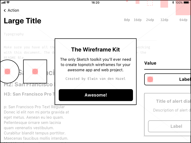 Lightweight Wireframe Kit