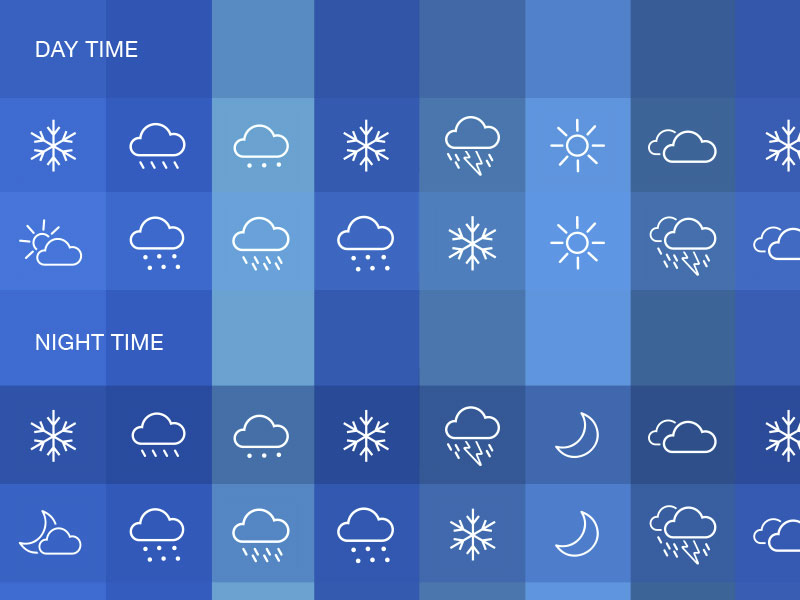 Weather Icons Set Sketch freebie - Download free resource