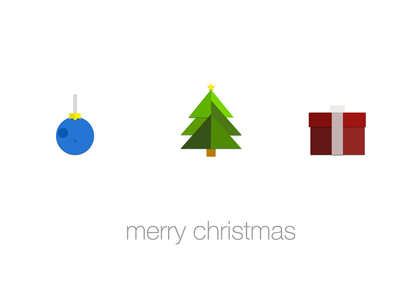 Three Holiday Icons