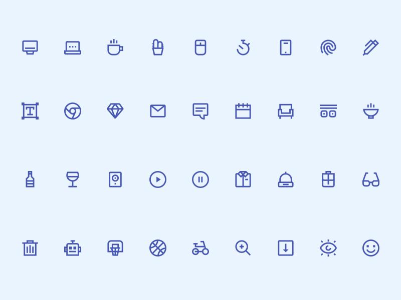 Sketch icon set kit Sketch freebie - Download free resource