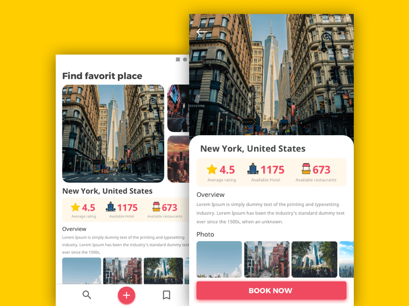 Travel App Screen