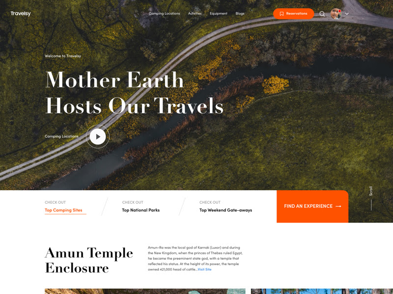 Travel Website and Landing Page