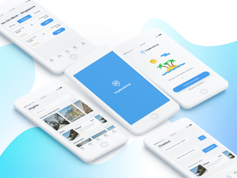 Trip Booking App UI Kit